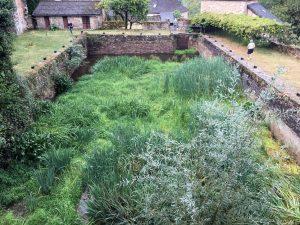 restauration du vivier de l'abbaye d'Aubazine